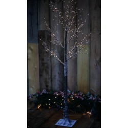 Pre-Lit Christmas Brown Birch Tree 150cm height with 400 Warm White Micro Led