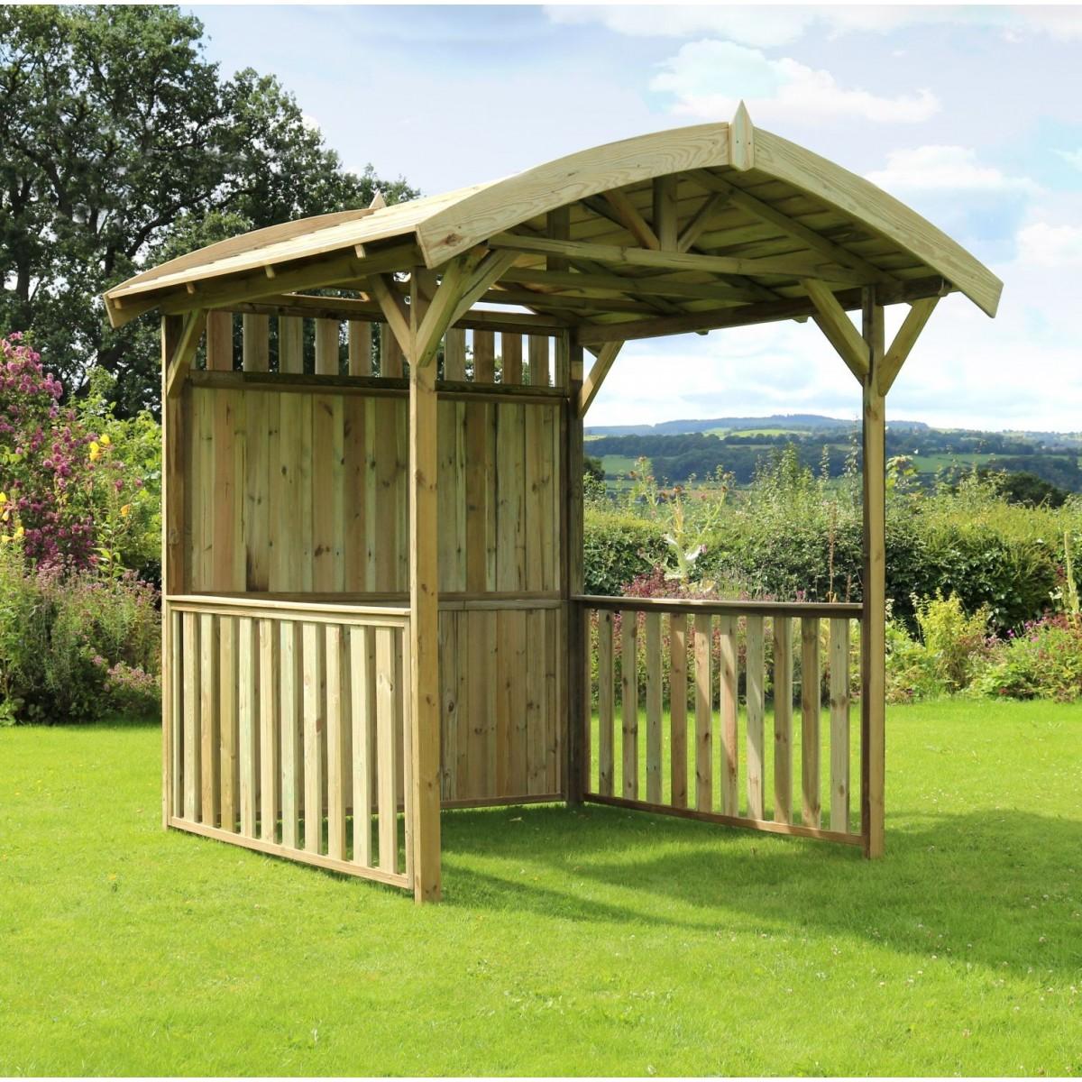 Ferrol Garden Gazebo Pressure treated Wood Shelter