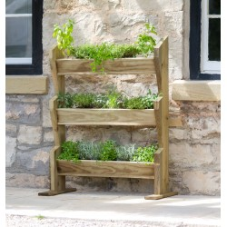 Vertical Planter Stand for Herbs, Flowers, Plants and Vegetables