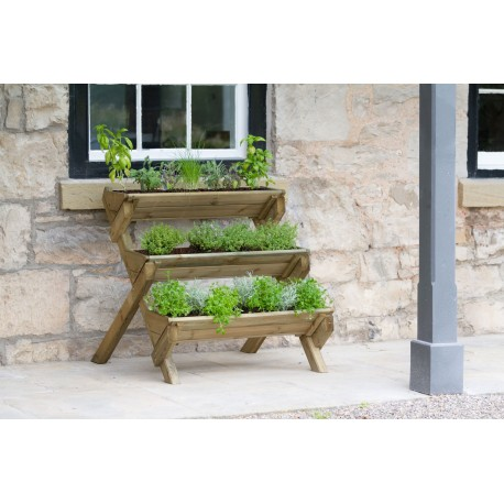 Stepped Planter Stand for Herbs, Flowers, Plants and Vegetables