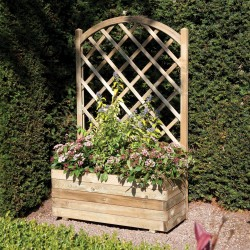 Rectangular Flower Planter with Climbing Trellis
