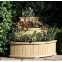 3 Tier Solid Wood Corner Planter Raised Vegetable & Flower Bed