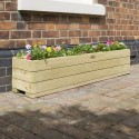 Large Contemporary Solid Wood Garden Planter Raised Bed for Vegetable & Flower