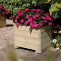 Square Contemporary Solid Wood Garden Planter Raised Bed for Vegetable & Flower