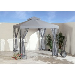 Contemporary Garden Gazebo in Grey (2.5m x 2.5m)