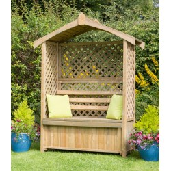 Orotava Arbour with Storage Box and Trellis