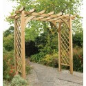 Large Flat Top Garden Arch with Trellis