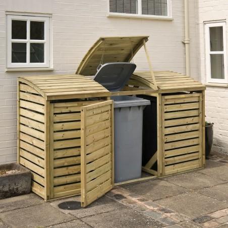 Triple Bin Storage - Solid pressure treated Wood