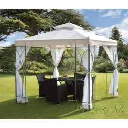Contemporary Garden Gazebo in Cream (2.5m x 2.5m)