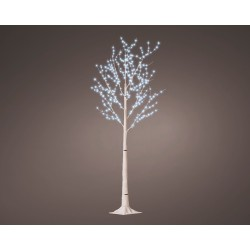 Pre-Lit Christmas White Birch Tree 180cm height with 600 Cool White Micro Led