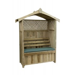 Barcelona Arbour with Storage Box and Trellis (includes Green seat Pad)