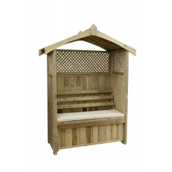 Barcelona Arbour with Storage Box and Trellis (includes Cream seat Pad)