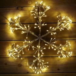 Starburst Flashing 90cm Christmas Snowflake with 660 Warm White Led Light