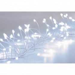 860 Cool White Garland Cluster Micro ultra bright LED Christmas Lights with Silver pin wire String - indoor or outdoor use