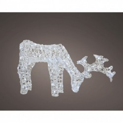 Acrylic Standing Outdoor Christmas Reindeer with 100 Cool White LED