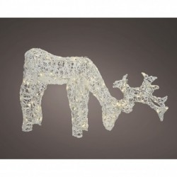 Acrylic Standing Outdoor Christmas Reindeer with 100 Warm White LED
