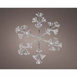 Starburst Flashing 75cm Christmas Snowflake with 336 Cool White Led Light - indoor or outdoor use