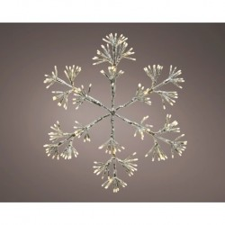 Starburst Flashing 75cm Christmas Snowflake with 336 Warm White Led Light - indoor or outdoor use