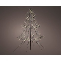 2m Easy Set Up Pre Lit Christmas Tree with 1200 Warm White Cluster LED's - Twinkle Multi Function - Indoor or Outdoor use
