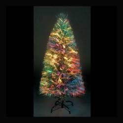 Fibre Optic Sunburst Artificial Christmas Tree with 140 leds - 120cm / 4ft