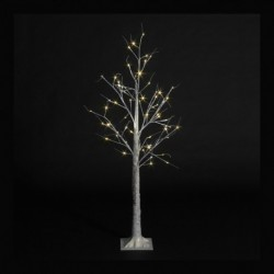 Pre-Lit Christmas White Birch Tree with 64 Warm White Led - 150cm / 5ft
