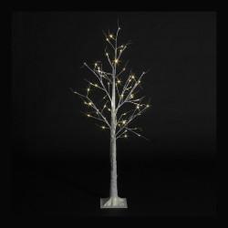 Pre-Lit Christmas White Birch Tree with 80 Warm White Led - 180cm / 6ft