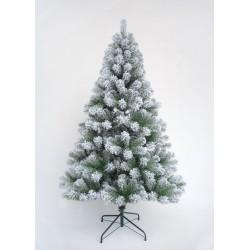 Colorado Slim Spruce Snowy Green Artificial Christmas Tree - 210cm / 7ft