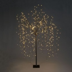 Weeping Willow Pre-Lit Christmas Tree with 400 Warm White Led - 180cm / 6ft