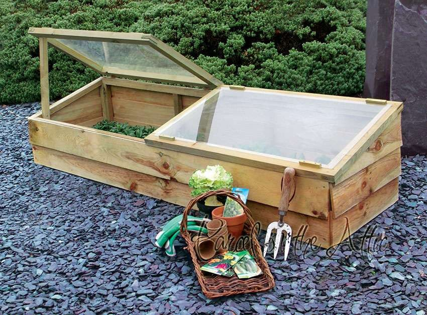 Large Wooden Cold Frame - Parcel in the Attic - Lifestyle, Home, Living
