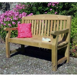 Heavy Duty Solid Wood 4ft Garden Bench