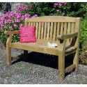 Elda Heavy Duty Solid Wood 4ft Garden Bench