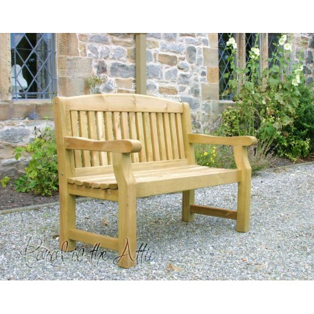 Heavy Duty Solid Wood 5ft Garden Bench