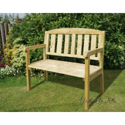 Solid Wood 4ft Garden Bench