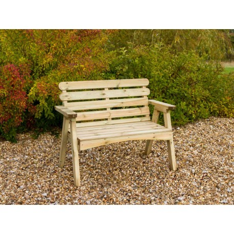 Solid wood 2 Seater Bench