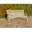 Solid wood 3 Seater Bench