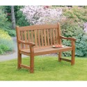 Verona 2 Seater Hardwood Bench