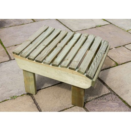 Solid wood Adirondack Footstool