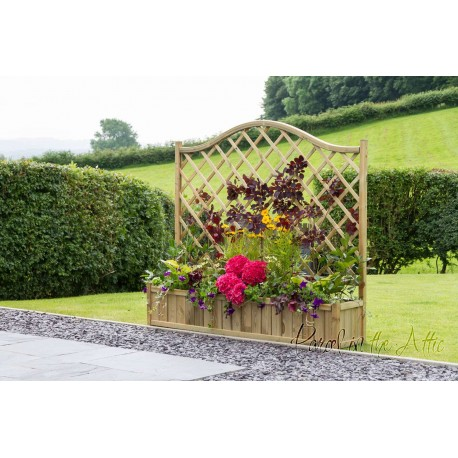 Large Flower Planter with Climbing Trellis (1.8m)