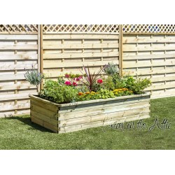 Sleeper Raised Bed 180x90x45cm (with base)