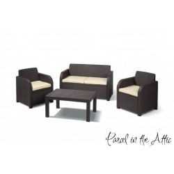 Trieste Rattan Lounge Set in Brown
