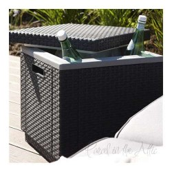 Messina Rattan Cool Box in Anthracite