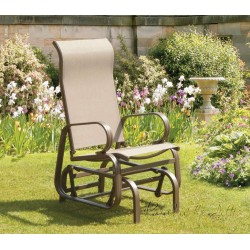 Calabria Single Glider Seat in Mocha