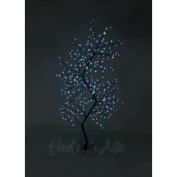 210cm/7ft Outdoor Zig Zag Cherry Blossom Tree - 300 Multi Coloured LED Fairy Lights