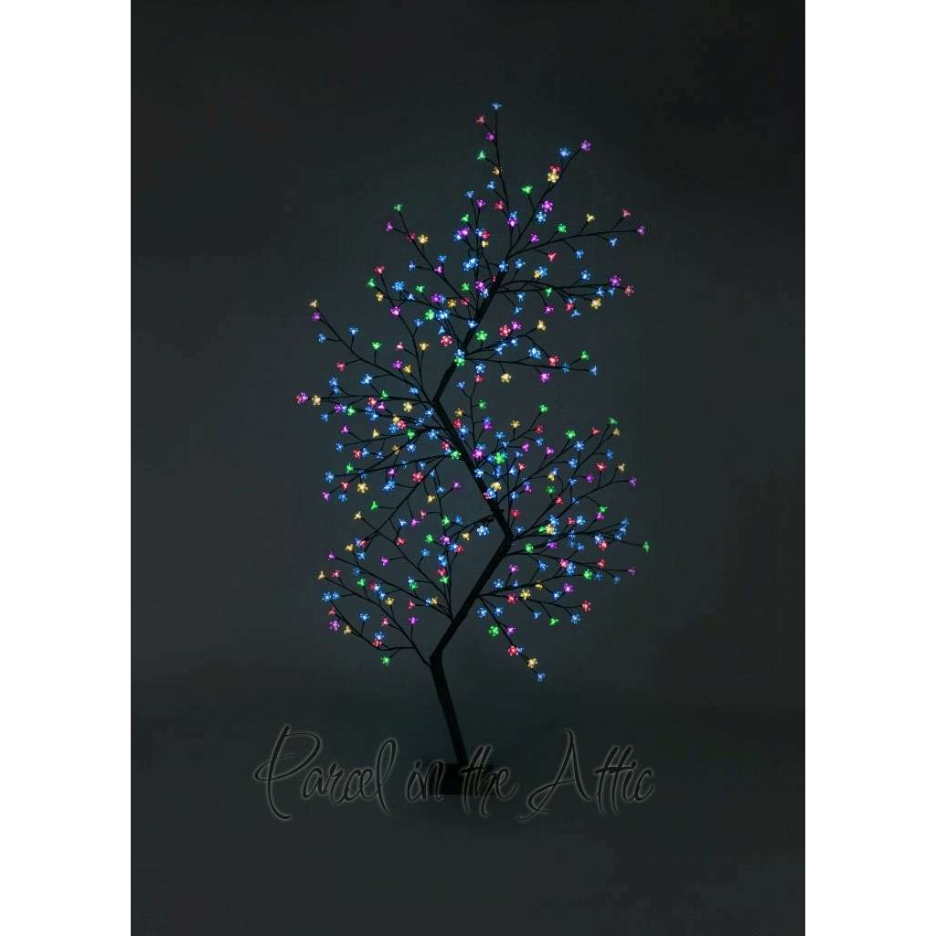 7ft outdoor led zig zag cherry blossom tree multi coloured led 210cm7ft outdoor zig zag cherry blossom tree 300 multi coloured led fairy lights loading zoom aloadofball Image collections