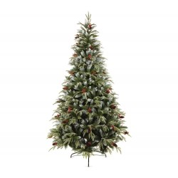 210cm/7ft Frosted Spruce Artificial Christmas Tree with Berrys and Pines cone