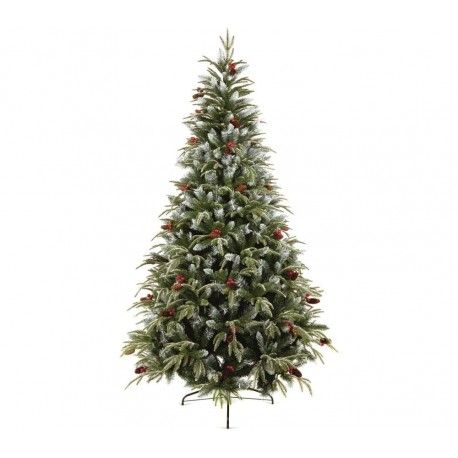 Frosted Spruce Christmas Tree Berrys Pines cone - 210cm / 7ft Height