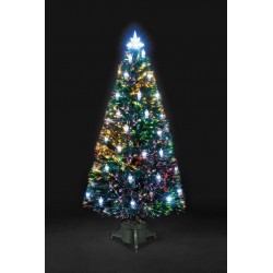 Fibre Optic Victorian Artificial Christmas Tree with LED Lanterns - 90cm / 3ft