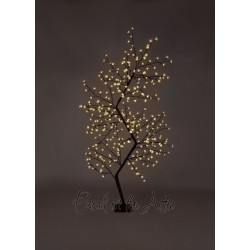 210cm/7ft Outdoor Zig Zag Cherry Blossom Tree - 300 Warm White LED Fairy Lights