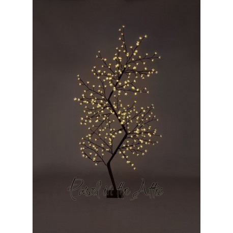 210cm/7ft Outdoor LED Zig Zag Cherry Blossom Tree 300 Warm White LED Fairy Lights Floor Lamp