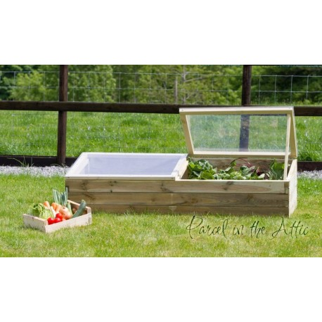 Large Wooden Sleeper Cold Frame